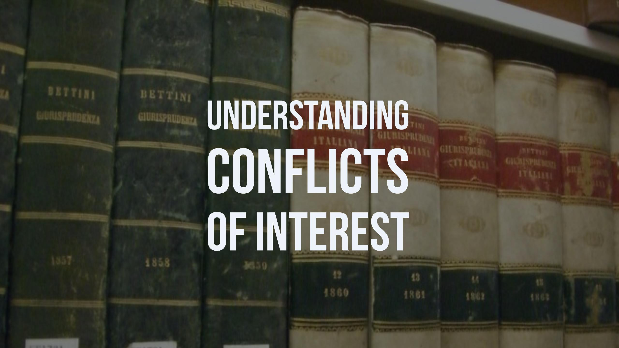 The Facts on Conflicts of Interest